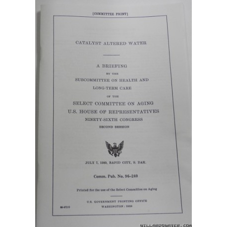 Willard's Water U.S. Congressional Hearing Report*
