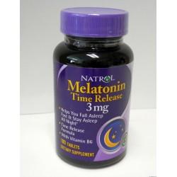 Melatonin 100 Tablet Bottle of 3 mg Tablets
