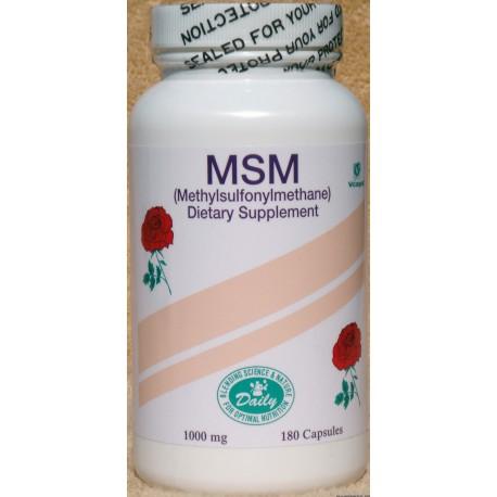 MSM 1000 Mg - 180 Capsules